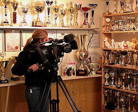 Bayerische Fernsehe in unseren Salon, Januar 2009